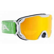 Goggles ALPINA PHEOS S MM white/green