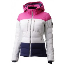 Ladi's ski jacket Descente Sienna Super white hot pink