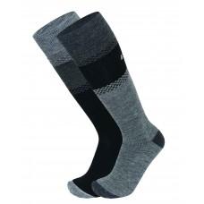 Socks for  skiing SKI KOMFORT EISBAR 2PACK blk/grey