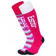 Socks for  skiing JR KOMFORT EISBAR 2PACK fuchsia
