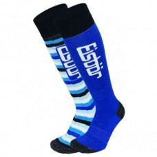 Socks for  skiing JR KOMFORT EISBAR 2PACK royal