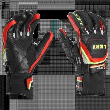 Gloves LEKI WC RACE FLEX S blk/red/white/yellow