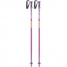 LEKI RIDER Ski poles JR  pink/white/green/lilac