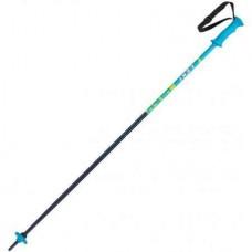 LEKI RIDER Ski poles JR blue/white/cyan/neonyellow