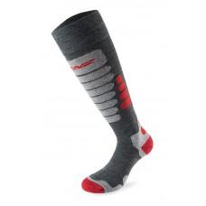 Чорапи за ски 3.0 сиво с червено LENZ