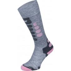 Чорапи за ски 3.0 сиво с розово  LENZ