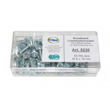 Snowboard roundhead screws -Ø M6 x 16 mm LG Sport