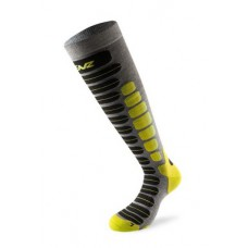 Socks for skiing 2.0 antracite/lime LENZ