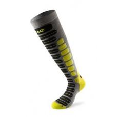 Чорапи за ски 2.0 сиво/лайм LENZ