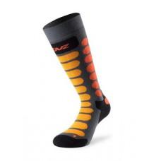 Детски чорапи за ски сиво/оранжеви Lenz
