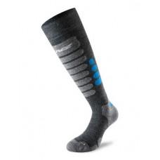 Чорапи за ски 3.0 сиво/сини LENZ